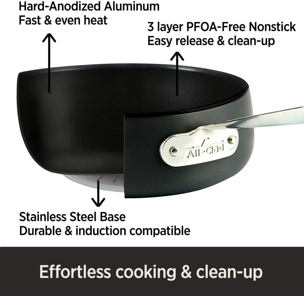 All-Clad Hard-Anodized Nonstick cookware set